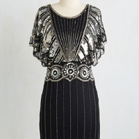 ModCloth Vintage Inspired Mid-length Short Sleeves Sheath Get the Party Starlet Dress