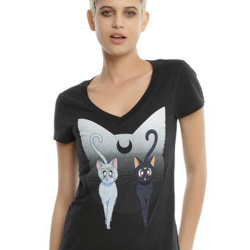 Sailor Moon Artemis & Luna Girls T-Shirt