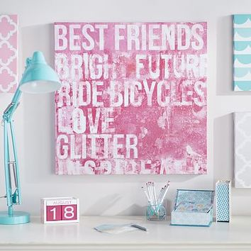 Best Friends Distressed Sentiments Wall Art