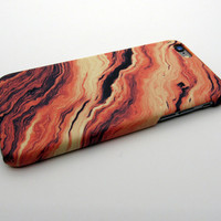 Cool Vintage Orange Marble Stone iPhone 7 7Plus & iPhone 6s 6 Plus Case Cover + Free Gift Box