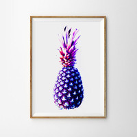 Pineapple Poster Spring decor Minimal Modern Photography Macro Whimsical Art Nature garden Botanical Organic Home Decor outdoor Still life