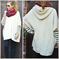 Wrapped With Style Short Sleeve Hooded Cardigan
