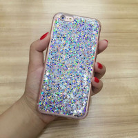 Luxury Bling Silicone 6s TPU soft Glitter Case Cover Sparking For Apple iPhone 6 6S 6plus 6s+ PINK Case -0318