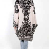 Tribal Baroque Print Cardigan |MakeMeChic.com