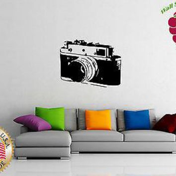 Wall Sticker Vinyl Decal  Old  Photo Camera Photography Picture  Unique Gift EM558