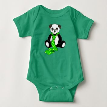 Cute Panda Bear Graphic Baby Bodysuit