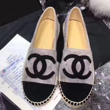 Chanel Fashion Espadrilles For Women Shoes Grey B-TFDXY-XNEDX