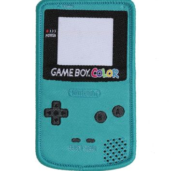 Licensed cool Nintendo Game Boy Color Video Game Controller Green IRON ON Patch Badge NEW