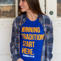 Winning Traditions Start Here-Oklahoma City t-shirt