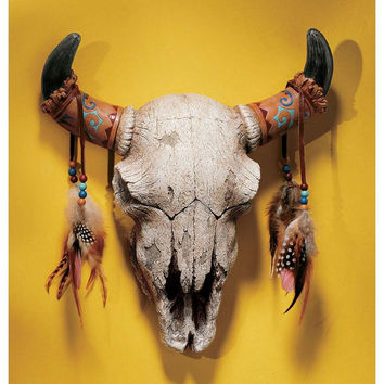 Park Avenue Collection Spirit Of The West Cow Skull