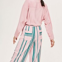 Striped Wide Leg Trousers | Topshop