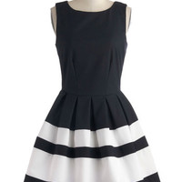 Nautical Mid-length Sleeveless Fit & Flare A Dreamboat Come True Dress in Nautical