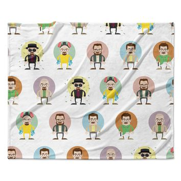 "Juan Paolo ""The Stages of Walter White"" Breaking Bad Fleece Throw Blanket"