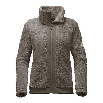 Women's Furry Fleece Full Zip Jacket in Weimaraner Brown by The North Face