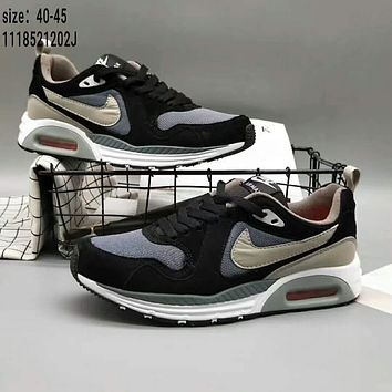 NIKE AIRMAX trend sports shoes F-XYXY-FTQ Black + beige hook