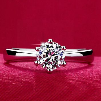 Sterling Silver Italina Jewelry Engagement Rings