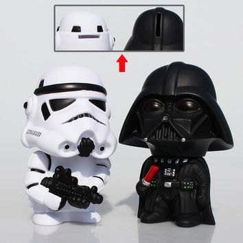 Star Wars Force Episode 1 2 3 4 5 14cm  Piggy Bank  Stormtrooper Darth Vader PVC Figures Toys Coin Bank Box Collectible Model Doll Toy AT_72_6