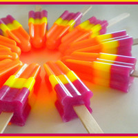 Soap - Soapsicle - Pomegranate Mango Papaya - Soap Popsicle - Party Favors - Soap for Kids