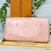 Louis Vuitton Zippy Wallet Long Monogram Vernis Pink Card Pocket MM 1808271630