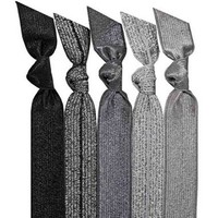 Emi-Jay 5-pack Hair Ties - Silver Glitter