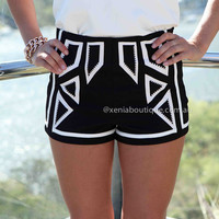 MIXED TONE SHORTS , DRESSES, TOPS, BOTTOMS, JACKETS & JUMPERS, ACCESSORIES, 50% OFF SALE, PRE ORDER, NEW ARRIVALS, PLAYSUIT, COLOUR, GIFT VOUCHER,,SHORTS,Print,Black Australia, Queensland, Brisbane