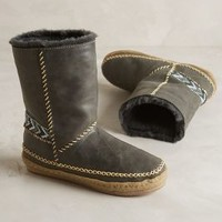 Laidback London Naira Shearling-Lined Booties Grey