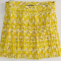 AEO 's Pleated Floral Skirt