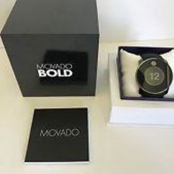 Movado Men's Bold Touch 2 Digital Swiss Quartz Black Watch 3600365 NEW IN BOX!!