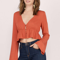 Rodeo Bell Sleeve Crop Top
