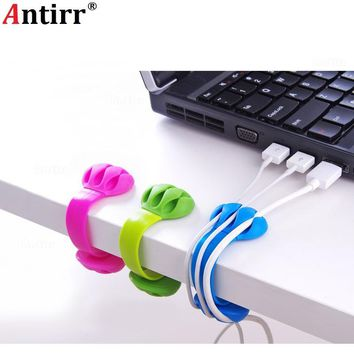 Universal Multipurpose Cable Bobbin Winder Earphone Ties Organizer Wire Cord Data line Tidy Management Anti-skid Clip-on clamp