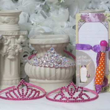Girls Gift Set - Princess Accessories - Birthday Gifts - Flower Girl Headband - Crown Headband - Photography Prop - Princess Party - Gifts