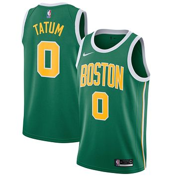 Men's Boston Celtics Jayson Tatum Nike Green 2018/19 Swingman Jersey ¨C Earned Edition