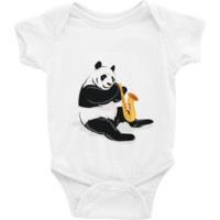 Panda Baby Boy Onesuit | Funny Bear Lover Gift Romper | The Jazzy Panda