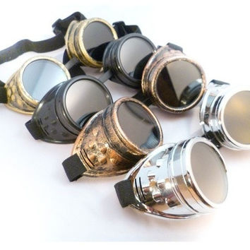STEAMPUNK GOGGLES CYBER WELDING GOTH COSPLAY VINTAGE GOGGLES RUSTIC = 1946428676