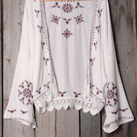 Cupshe Lingering Kiss Embroidered Retro Cardigan