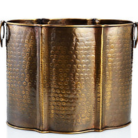 Dessau Home Antique Brass Planter - Lu159