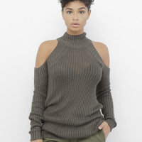 ARI KNIT SWEATER in OLIVE at FLYJANE