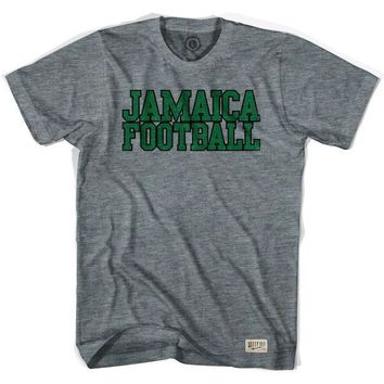 Jamaica Football Nation Soccer T-shirt-Adult