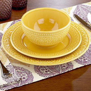 Amber Dinnerware Set of 4 | Dinnerware Sets | World Market