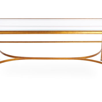 Crosby Cocktail Table, Gold, Coffee Table