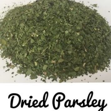 Parsley, Dried, 8oz. Free Dehydrated Rosemary, Thyme, Basil, See Details
