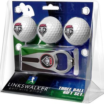 New Mexico Lobos 3 Ball Gift Pack with Hat Trick Divot Tool