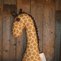 Giraffe Rattle Toy Soft Stuffed Animal Baby Toy by OurPlaceToNest