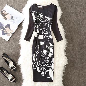 4a25d6d1ee5 Autumn Winter Dress Women 2018 Casual Sexy Office Party Bodycon