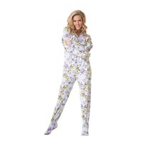 Blue Tweety Adult Footed Onesuit Pajamas
