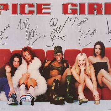 The Spice Girls Signature Portrait 1997 Poster 23x34