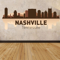 Nashville city Tennessee Full Color Decal, Full color sticker,colored gc090