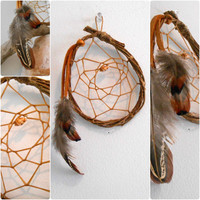 Dream Catcher, Willow Hoop, Handmade, Native American, Natural Wood Dreamcatcher, OOAK, Rustic, Primitive