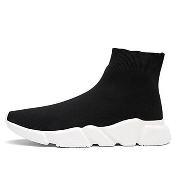 Unisex Slip-on Athletic Black Socks Shoes Lightweight Breathable Outdoor Casual Sports Running Sneakers