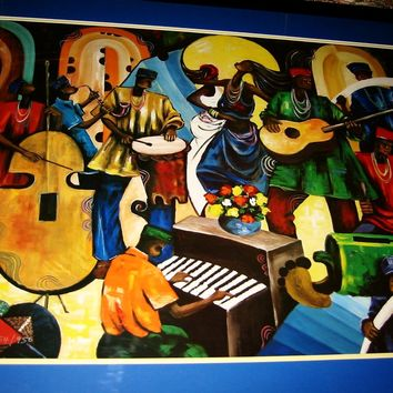 Chidi Okoye Down Of Tomorrow Jazz Festival Signed Lithograph Titled